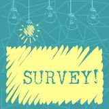 Handwriting text Survey. Concept meaning Questioning group of showing to gather opinion on a particular subject Set of. Handwriting text Survey. Conceptual photo royalty free illustration