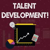 Handwriting text Talent Development. Concept meaning anticipation of required huanalysis capital for organization. Handwriting text Talent Development royalty free illustration
