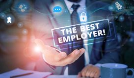 Free Handwriting Text The Best Employer. Concept Meaning Created Workplace Showing Feel Heard And Empowered Picture Photo Royalty Free Stock Photo - 164072735