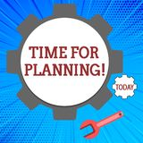 Handwriting text Time For Planning. Concept meaning exercising conscious control spent on specific activities Big and. Handwriting text Time For Planning stock illustration