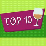 Handwriting text Top 10. Concept meaning List of most demanding Trending songs movies shows online in order.  stock illustration