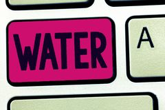 Handwriting text Water. Concept meaning colourless transparent odourless liquid which forms seas rivers.  stock photos
