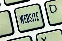 Handwriting text Website. Concept meaning Related web pages located under single domain name Internet stock illustration