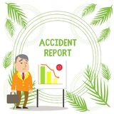 Handwriting text writing Accident Report. Concept meaning A form that is filled out record details of an unusual event. Handwriting text writing Accident Report vector illustration
