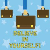 Handwriting text writing Believe In Yourself. Concept meaning Determination Positivity Courage Trust Faith Belief. Handwriting text writing Believe In Yourself vector illustration