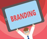 Handwriting text writing Branding. Concept meaning Assign brand name to something Business marketing strategy royalty free illustration