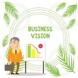 Handwriting text writing Business Vision. Concept meaning grow your business in the future based on your goals. Handwriting text writing Business Vision stock illustration