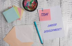 Handwriting text writing Career Development. Concept meaning Lifelong learning Improving skills to get a better job. Handwriting text writing Career Development stock images