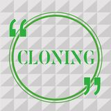 Handwriting text writing Cloning. Concept meaning Make identical copies of someone or something Creating clones.  stock illustration