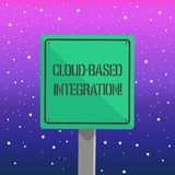 Handwriting text writing Cloud Based Integration. Concept meaning tools and technologies that connects applications 3D. Handwriting text writing Cloud Based royalty free illustration