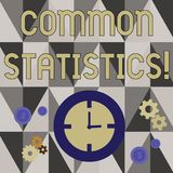 Handwriting text writing Common Statistics. Concept meaning used to calculate values related to statistical concepts stock illustration
