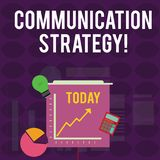 Handwriting text writing Communication Strategy. Concept meaning Verbal Nonverbal or Visual Plans of Goal and Method royalty free illustration