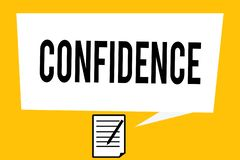 Handwriting text writing Confidence. Concept meaning Have faith in Rely on someone or something Telling secrets.  royalty free stock photos