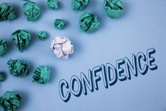 Handwriting text writing Confidence. Concept meaning Never ever doubting your worth, inspire and transform yourself written on Pla. Handwriting text writing royalty free stock images