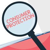 Handwriting text writing Consumer Protection. Concept meaning Fair Trade Laws to ensure Consumers Rights Protection.  royalty free illustration