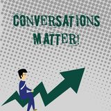 Handwriting text writing Conversations Matter. Concept meaning generate new and meaningful knowledge Positive action. Handwriting text writing Conversations royalty free illustration