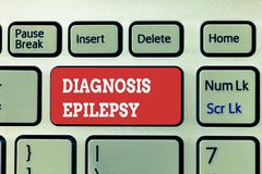 Handwriting text writing Diagnosis Epilepsy. Concept meaning disorder in which brain activity becomes abnormal.  royalty free stock photo