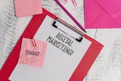 Handwriting text writing Digital Marketing. Concept meaning Search Engine Optimazation Pay Per Click Ad Internet. Handwriting text writing Digital Marketing stock photo