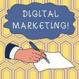 Handwriting text writing Digital Marketing. Concept meaning Search Engine Optimazation Pay Per Click Ad Internet Male. Handwriting text writing Digital Marketing stock illustration