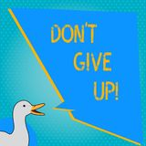 Handwriting text writing Don T Give Up. Concept meaning Keep trying until you succeed follow your dreams goals. Handwriting text writing Don T Give Up. Concept stock illustration