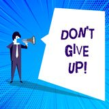 Handwriting text writing Don T Give Up. Concept meaning Keep trying until you succeed follow your dreams goals. Handwriting text writing Don T Give Up. Concept royalty free illustration