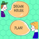 Handwriting text writing Dream House Plan. Concept meaning construction working drawings that define all specification vector illustration