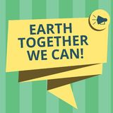 Handwriting text writing Earth Together We Can. Concept meaning Environment protection recycling reusing ecological vector illustration