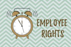 Handwriting text writing Employee Rights. Concept meaning All employees have basic rights in their own workplace.  vector illustration