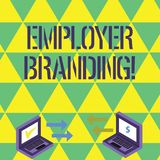 Handwriting text writing Employer Branding. Concept meaning process of articulating your company s is unique message stock illustration