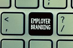 Handwriting text writing Employer Branding. Concept meaning Process of promoting a company Building Reputation.  stock images