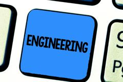 Handwriting text writing Engineering. Concept meaning Science concerned with design building use of engines machines.  stock photos
