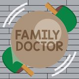 Handwriting text writing Family Doctor. Concept meaning Provide comprehensive health care for showing of all ages.  royalty free stock photos