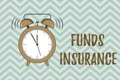 Handwriting text writing Funds Insurance. Concept meaning Form of collective investment offered an assurance policies.  royalty free illustration