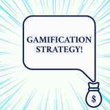 Handwriting text writing Gamification Strategy. Concept meaning use Rewards for Motivation Integrate Game Mechanics. Handwriting text writing Gamification royalty free illustration