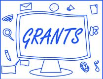Handwriting text writing Grants. Concept meaning agree to give or allow something requested someone Authorize action.  royalty free illustration