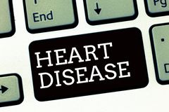 Handwriting text writing Heart Disease. Concept meaning Heart disorder Conditions that involve blocked blood vessels royalty free stock images