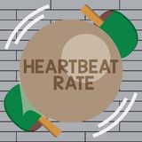 Handwriting text writing Heartbeat Rate. Concept meaning measured by number of times the heart contracts per minute.  royalty free illustration