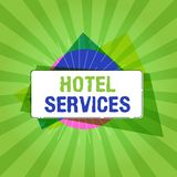 Handwriting text writing Hotel Services. Concept meaning Facilities Amenities of an accommodation and lodging house.  stock illustration