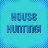 Handwriting text writing House Hunting. Concept meaning the act of searching or looking for a house to buy or rent. Handwriting text writing House Hunting stock illustration