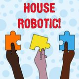 Handwriting text writing House Robotic. Concept meaning Programmable powered machines that perform household chores vector illustration