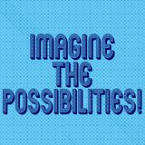 Handwriting text writing Imagine The Possibilities. Concept meaning sense that something is able to happen soon Seamless Dots Tiny. Loop Rings Scattered Circle royalty free stock photo