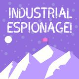 Handwriting text writing Industrial Espionage. Concept meaning form of espionage conducted for commercial purposes. Handwriting text writing Industrial Espionage stock illustration