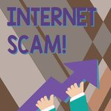 Handwriting text writing Internet Scam. Concept meaning type of fraud or scam which makes use of the Internet photo of. Handwriting text writing Internet Scam royalty free illustration