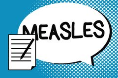 Handwriting text writing Measles. Concept meaning Infectious viral disease causing fever and a red rash on the skin vector illustration