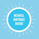 Handwriting text writing Mechanical Maintenance Engineer. Concept meaning Responsible for machines efficiency Circle. With Border and Thin Beam Lines Glowing vector illustration
