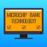 Handwriting text writing Microchip Bank Technology. Concept meaning Binary transactions of bank fund and savings Blank Computer stock illustration