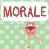 Handwriting text writing Morale. Concept meaning enthusiasm and discipline of person or group at particular time