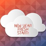 Handwriting text writing New Year Fresh Start. Concept meaning Time to follow resolutions reach out dream job Blank. Handwriting text writing New Year Fresh royalty free illustration