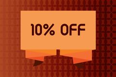 Handwriting text writing 10 Off. Concept meaning Discount of ten percent over regular price Promotion Sale Clearance.  vector illustration