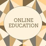 Handwriting text writing Online Education. Concept meaning study and ethical practice of facilitating learning Obtuse. Handwriting text writing Online Education stock photography